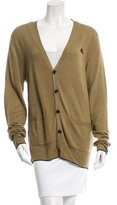 Burberry Logo-Embroidered Wool Cardigan