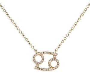 Adina's Jewels Adinas Jewels Pave Cancer Pendant Necklace, 16-18