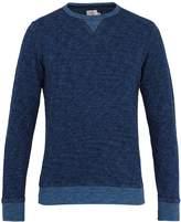 Faherty Crew-neck long-sleeved cotton sweatshirt
