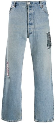 Children Of The Discordance Patch Detail Straight Jeans