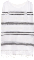Lemlem Addis multi-stripe gauze cover-up