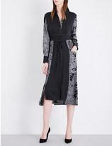 Diane von Furstenberg Floral-print silk-blend shirt dress