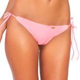 Luli Fama Cosita Buena Wavey Brazilian Tie Side Bottom in Pink Sunsets (L17602)