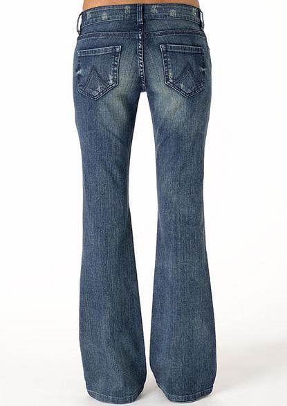 Delia's Bailey Boston Wash Low-Rise Flare Jean