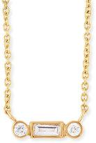 Sydney Evan Jewelry Bezel Baguette Diamond Necklace