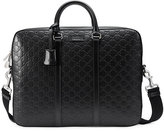 Gucci Signature briefcase - men - Leather/Nylon/Microfibre - One Size