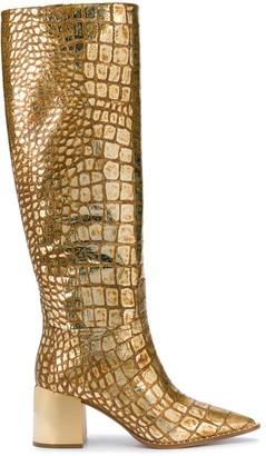 Casadei Embossed Knee Boots