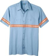 Dickies Men's Enhanced Visibility Short Sleeve Twill Work Shirt Non-Ansi