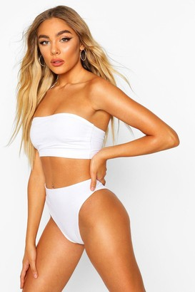boohoo Petite Mix & Match Ribbed Bandeau Top