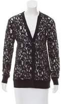 MICHAEL Michael Kors Long Sleeve Lace Cardigan
