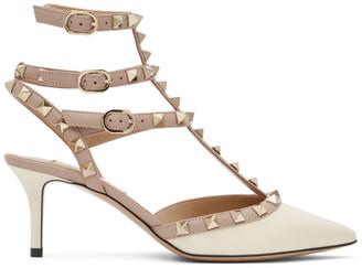 Valentino Off-White Garavani Rockstud Cage Heels