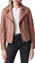 AllSaints Dalby Lambskin Leather Biker Jacket