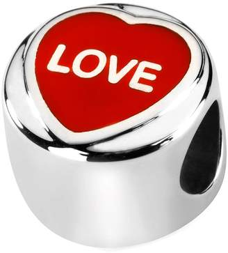 Love Hearts Official Sterling Silver & Red Enamel LOVE Charm