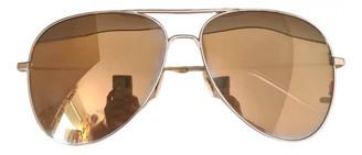 Saint Laurent Gold Metal Sunglasses