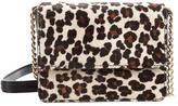 Alice + Olivia Leopard Print Ponyhair Crossbody Bag