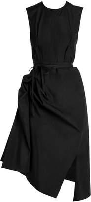 Marni Ruched Cotton Poplin Dress