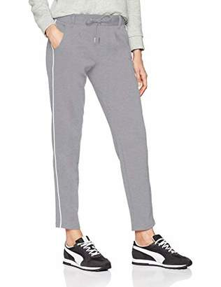 Tom Tailor NOS) Women's Feinstrick Hose Trouser, (Light Silver Grey Mé 10367), (Size: Large)