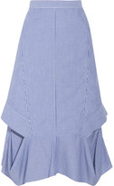 Chalayan Cutout Striped Cotton-poplin Midi Skirt - IT44