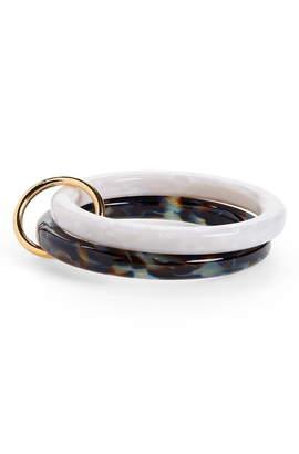 Lele Sadoughi Double Broadway Bangle Bracelet