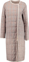 See by Chloe Quilted checked cotton coat