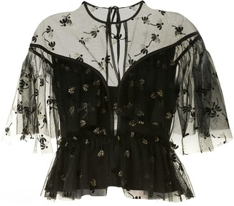 Alice McCall Moon Lover floral embroidered blouse