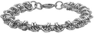 """Steel By Design Steel by Design 7-1/2"""" Knot Station Link Bracelet"""
