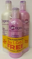 Aphogee Two-Step Protein Treatment, Balancing Moisturizer, Deep Moisture Shampoo Restructurizer Jumbo Pack