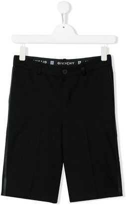 Givenchy Kids TEEN stripe detail tailored shorts