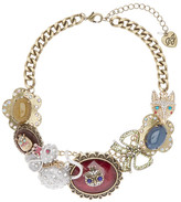 Betsey Johnson Critter Frontal Necklace