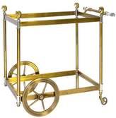 """Jonathan Adler Brass Bar Cart """"Cheval"""""""