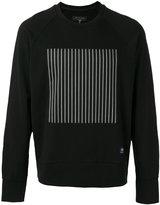 Rag & Bone striped block print sweatshirt