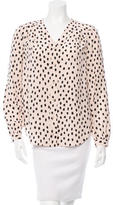 Kate Spade Polka Dot Print V-Neck Blouse