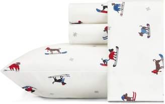 Eddie Bauer Ski Patrol Flannel Four-Piece Bedding Set