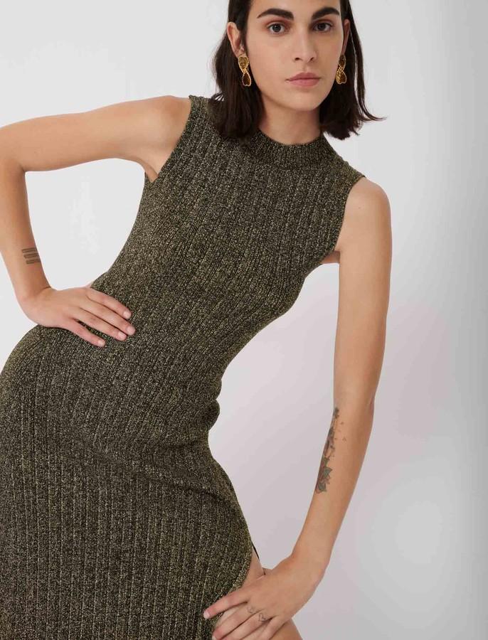 Maje Lurex knit dress