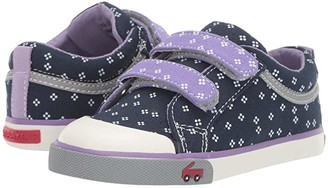 See Kai Run Kids Robyne (Toddler/Little Kid) (Navy/Purple) Girl's Shoes