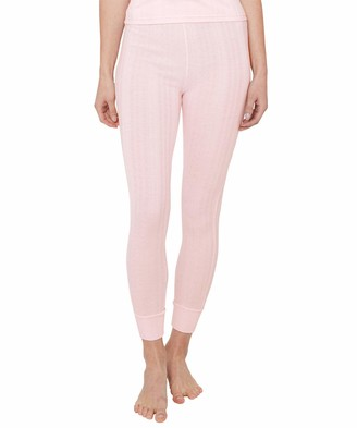 Joe Browns Womens Basic Thermal Leggings in Pointelle Knit Pink M