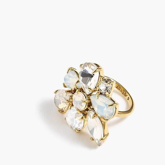 J.Crew Crystal cluster ring