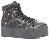 Jeffrey Campbell The Hiya Sneaker in Black Chain Print