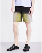 J.w. Anderson Acid-dip Denim Shorts