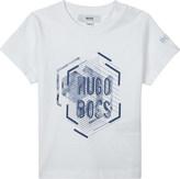 HUGO BOSS Geometric logo cotton t-shirt 6-36 months