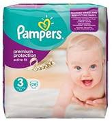 Pampers Active Fit Size 3 (Midi) Carry Pack 28 Nappies - Pack of 2