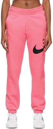 Nike Pink Swoosh Lounge Pants
