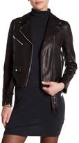 Doma Smooth Texture Lamb Nappa Notch Collar Jacket