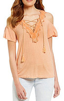Jessica Simpson Kiki Lace-Trimmed Top
