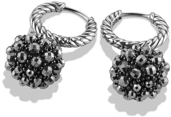 David Yurman Osetra Hoop Earrings with Hematine