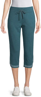 ST. JOHN'S BAY SJB ACTIVE Active Embroidered Capri - Tall