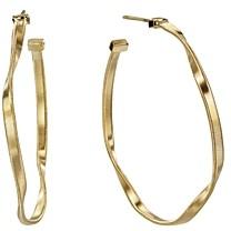 Marco Bicego 18K Yellow Gold Marrakech Twisted Medium Hoop Earrings