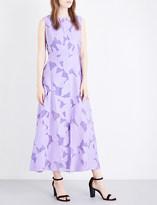 Diane von Furstenberg Devoré floral-pattern dress