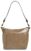 Hobo 'Charlie' Leather Shoulder Bag - Grey