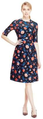 Lela Rose Rose Fil Coupe Holly Elbow Sleeve Dress